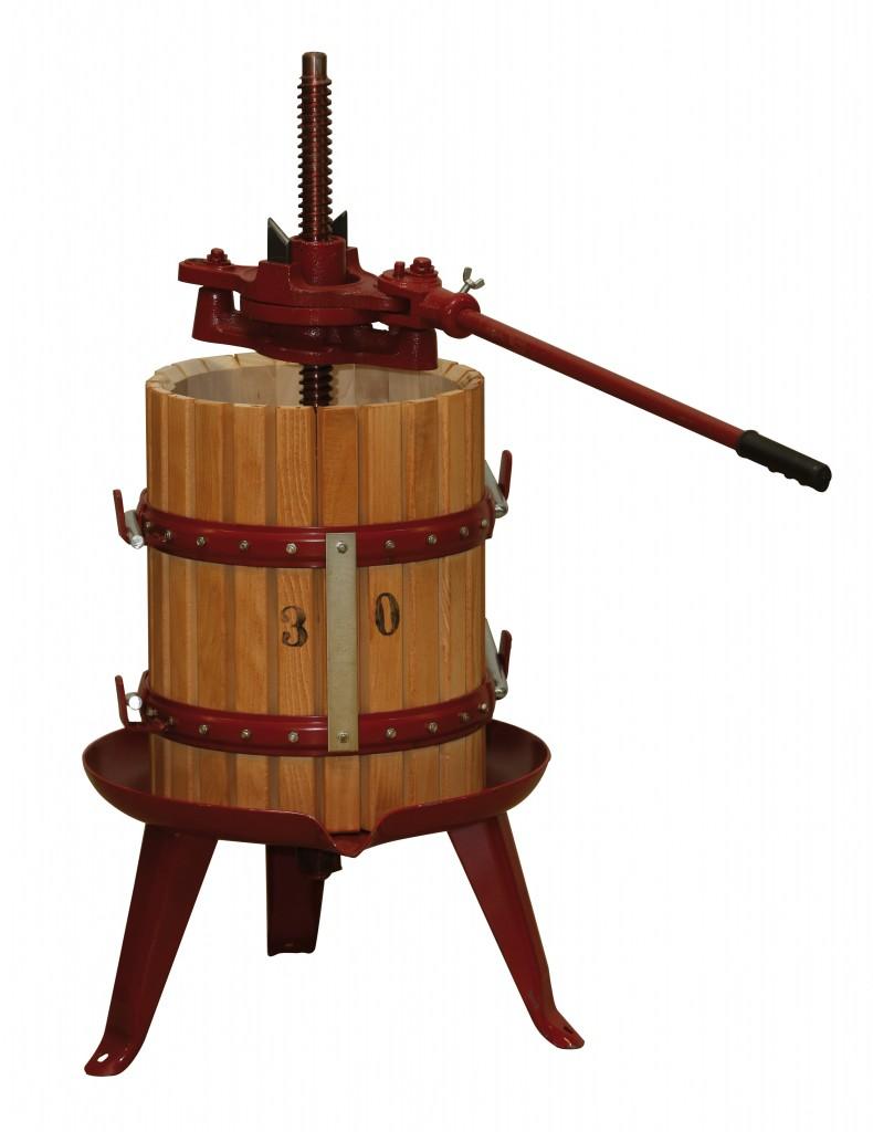 Pressoir à cliquet pour vin 30 litres