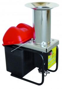 Broyeur à pomme électrique en inox avec seau 300 kg/h